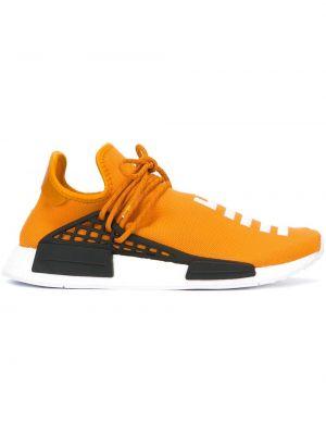 Żółte sneakersy skorzane Adidas By Pharrell Williams