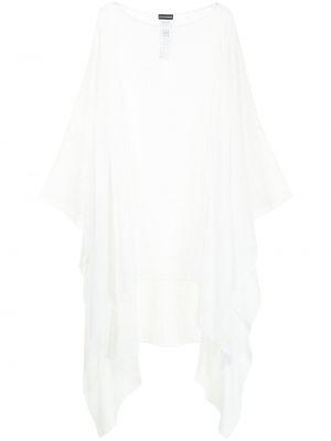 Biała narzutka bawełniana Emporio Armani