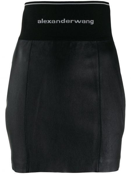 Юбка мини с поясом в рубчик Alexander Wang