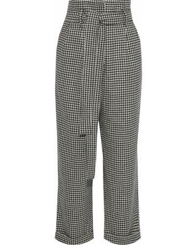 Шерстяные черные брюки с поясом Each X Other