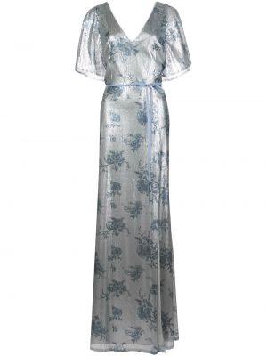 Платье мини в цветочный принт - синее Marchesa Notte