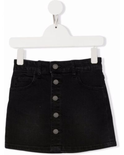 Spódnica jeansowa z paskiem - czarna Zadig & Voltaire Kids