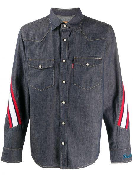 Koszula z długim rękawem klasyczna dżinsowa Facetasm