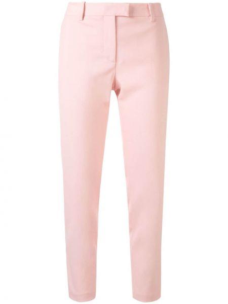 Шерстяные розовые укороченные брюки с карманами с высокой посадкой Altuzarra