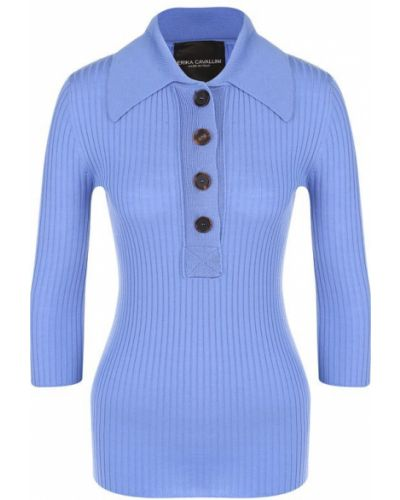 Голубой свитер шерстяной Erika Cavallini