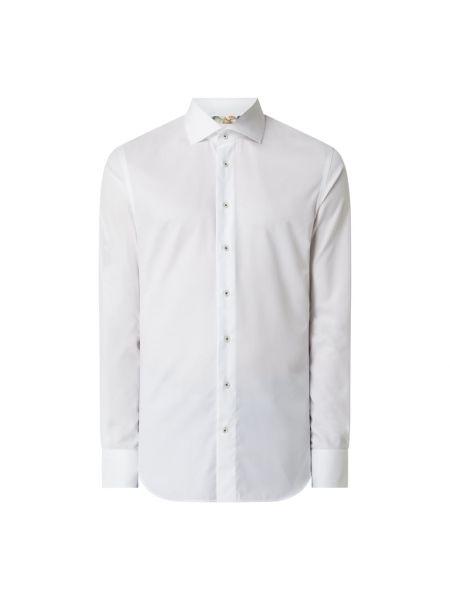 Biały światło koszula oxford z mankietami z długimi rękawami Profuomo