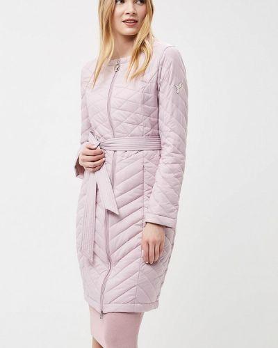 Утепленная куртка весенняя фиолетовый Odri Mio