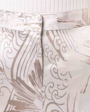 Белые расклешенные брюки с карманами с потайной застежкой Josie Natori