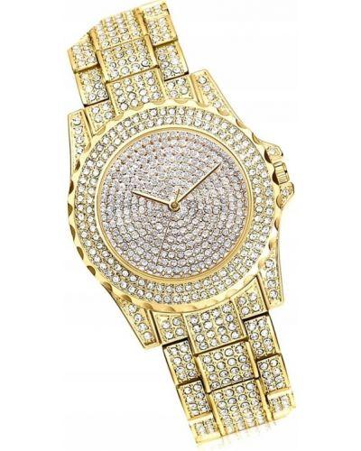 Żółty klasyczny zegarek Geneva