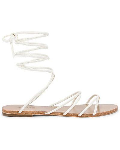 Białe sandały skorzane kopertowe Raye