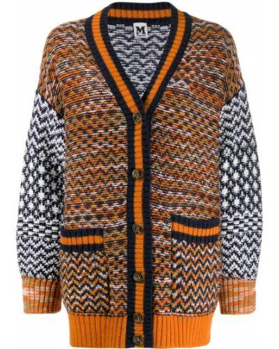 Синее длинное пальто с капюшоном M Missoni
