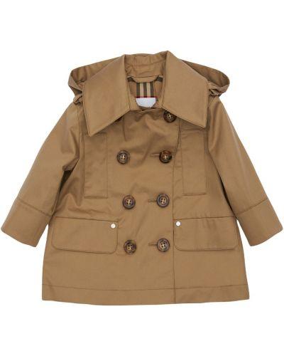 Bawełna bawełna beżowy płaszcz z kieszeniami Burberry