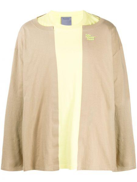 Żółty sweter bawełniany z długimi rękawami Poliquant
