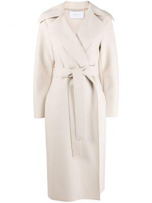 С рукавами длинное пальто с запахом с поясом Harris Wharf London