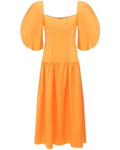 Хлопковое платье - оранжевое Rejina Pyo