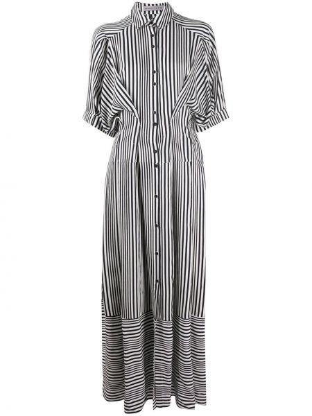 Приталенное классическое платье мини на пуговицах с разрезами по бокам Palmer / Harding