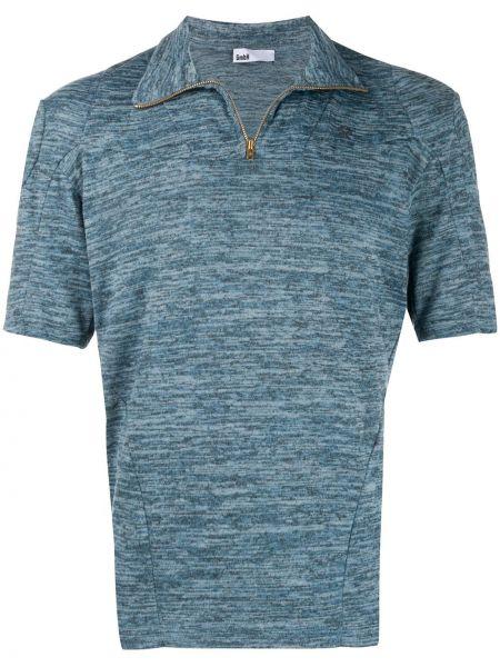 Синяя классическая футболка на молнии Gmbh