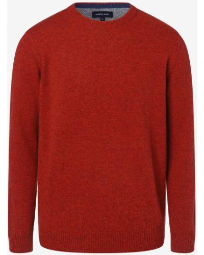 Sweter dzianinowy - pomarańczowy Andrew James