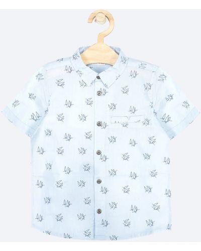 Рубашка с узором бирюзовый Coccodrillo