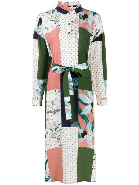 Платье миди пэчворк платье-рубашка Tory Burch