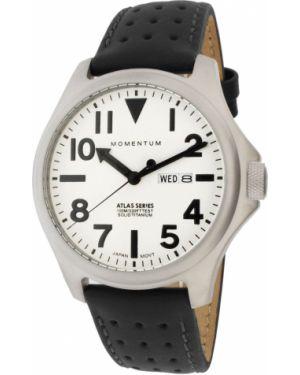 Часы водонепроницаемые с подсветкой с кожаным ремешком Momentum
