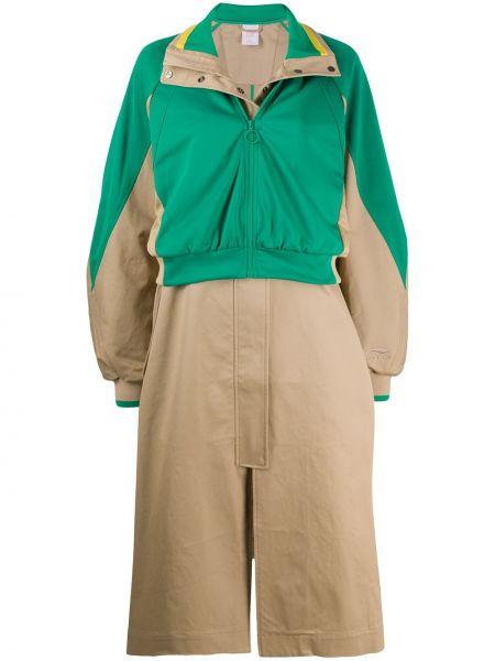 Длинное пальто с капюшоном с воротником на молнии Li-ning