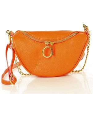 Skórzana torebka torba na torbę na łańcuszku Mazzini