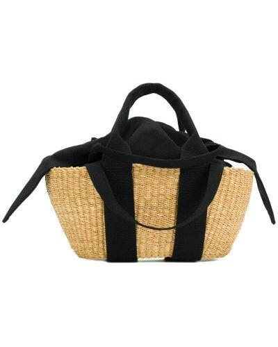 Черная соломенная маленькая сумка Muun