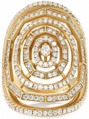 Żółty złoty pierścionek David Yurman