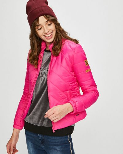 Стеганая куртка с карманами утепленная Noisy May