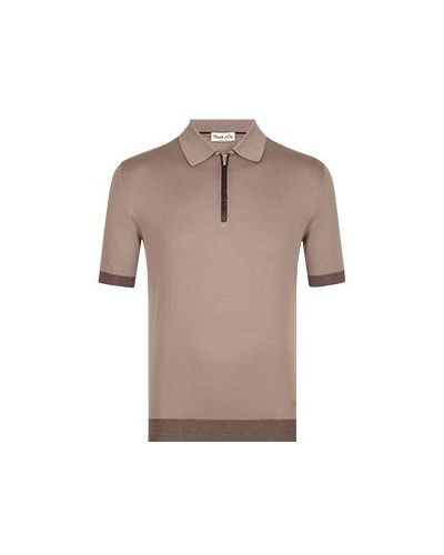 Хлопковая серая футболка Castello D'oro