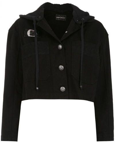 Прямая черная короткая куртка на пуговицах Andrea Bogosian