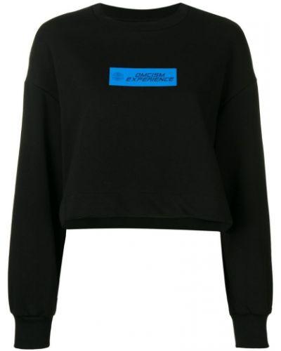 Черный свитер в рубчик Omc