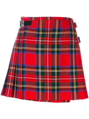 Юбка мини шотландка с орнаментом Christopher Kane