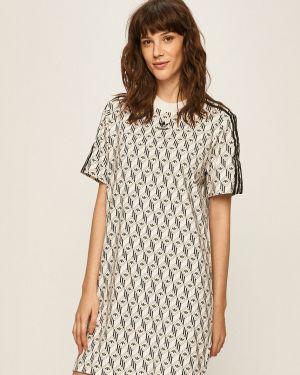 Свободное платье мини свободного кроя с вырезом Adidas Originals
