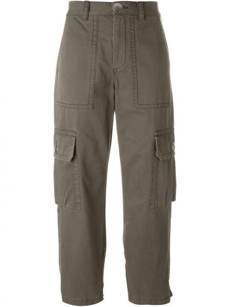 Хлопковые зеленые брюки карго Marc By Marc Jacobs