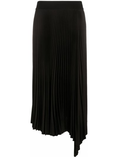 С завышенной талией плиссированная черная юбка миди Joseph