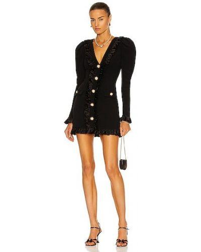 Платье макси с длинными рукавами - черное Alessandra Rich