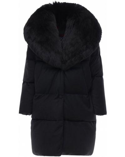 Пуховая черная куртка с воротником Tatras