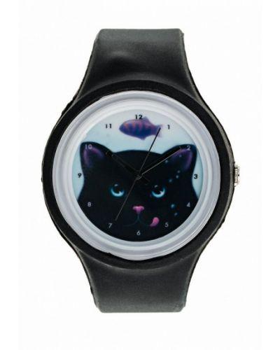 Черные часы Kawaii Factory