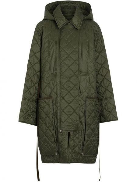 Пальто с капюшоном стеганое на молнии Burberry