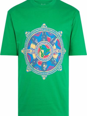 Zielona koszulka z printem Palace