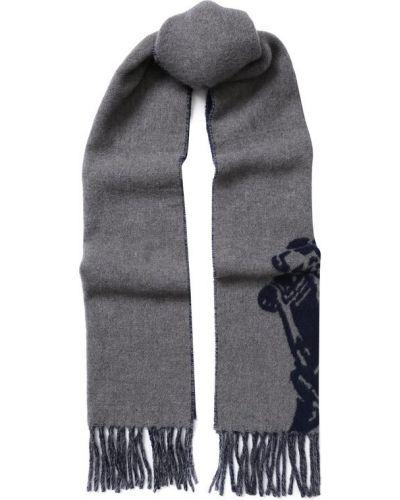 Серый шарф шерстяной Polo Ralph Lauren