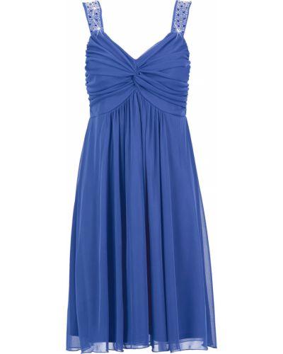 Платье с пайетками с V-образным вырезом Bonprix