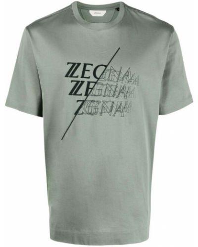 Zielona t-shirt Ermenegildo Zegna