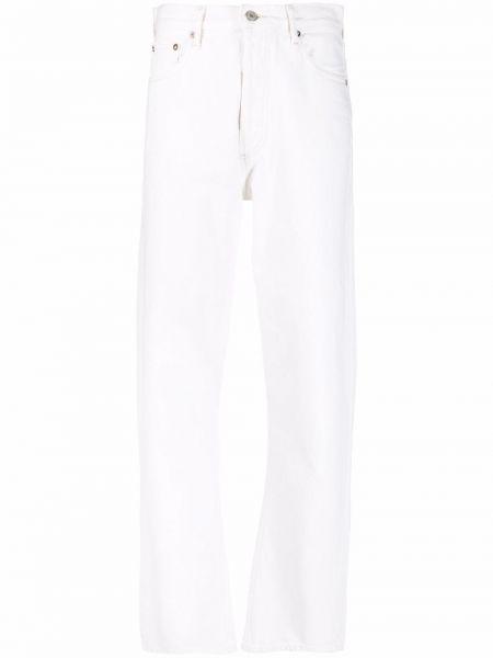 Хлопковые прямые джинсы классические на пуговицах Agolde