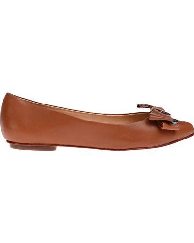 Балетки кожаные на каблуке Schutz