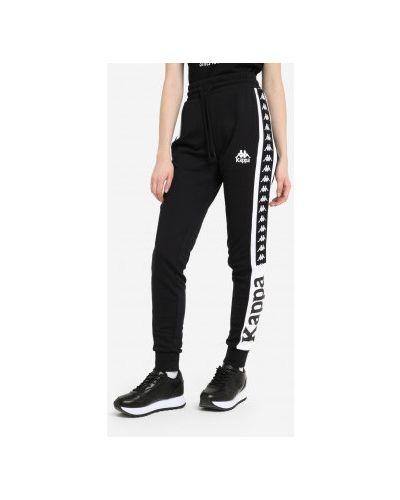 Черные трикотажные брюки Kappa