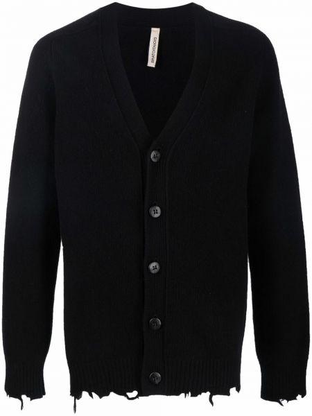 Czarny sweter z dekoltem w serek Giorgio Brato