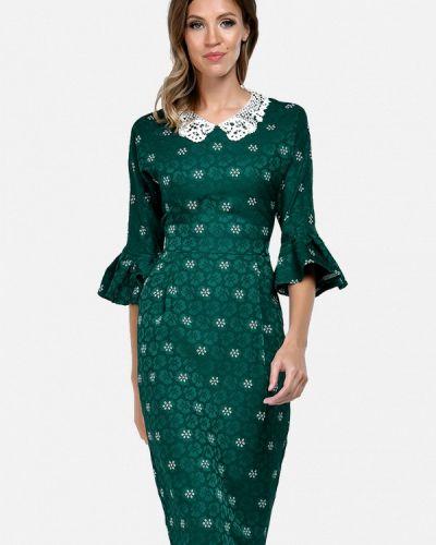 Платье осеннее зеленый Alisia Fiori